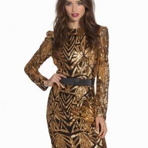Club L Aztec Sequin Detail Bodycon Dress