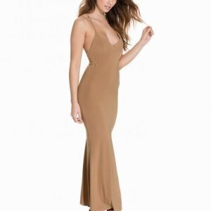 Club L Cami Slinky Rouched Back Dress Maksimekko Camel