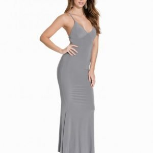 Club L Cami Slinky Rouched Back Dress Maksimekko Grey