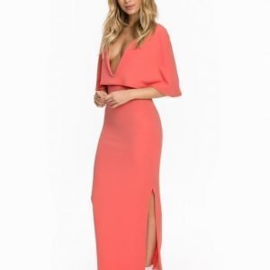 Club L Cape Detailed Maxi Dress