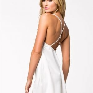 Club L Criss Cross Back Swing Dress Vit/Svart
