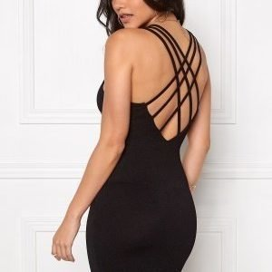 Club L Criss Cross Crepe Detail Black