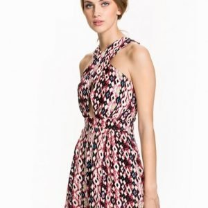 Club L Cross Over Printed Playsuit Pink