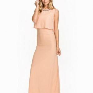 Club L Diamonte Overlay Open Back Maxi Dress