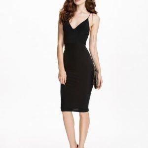 Club L Essentials Cami Strap Slinky Mini Dress Svart