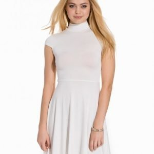 Club L Essentials High Neck Skater Dress Skater Mekko Creme