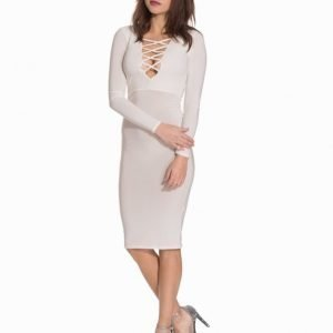 Club L Essentials L/S Criss Cross Midi Dress
