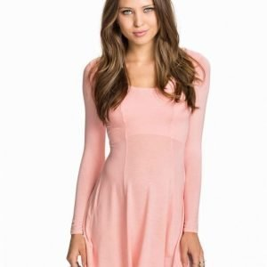 Club L Essentials Long Sleeve Jersey Dress Svart