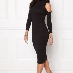 Club L High Neck Cut out Dress Black