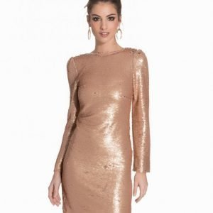 Club L Low Back Bodycon Sequin Dress Paljettimekko Rose