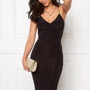 Club L Slinky Cami Strap Dress Black
