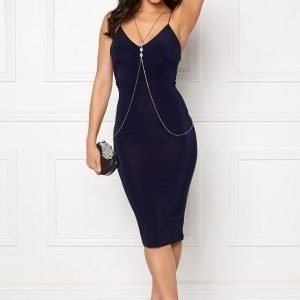 Club L Slinky Cami Strap Dress Navy