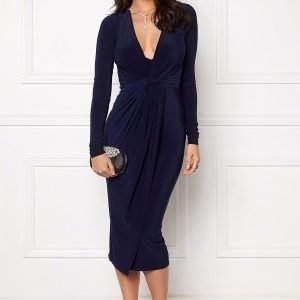 Club L Slinky Knot Midi Dress Navy