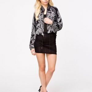 Club L Twisted Knot Mini Skirt Svart