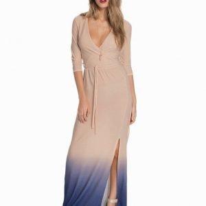 Club L Wrap Front Lurex Maxi Dress Gold