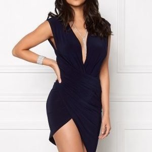 Club L Wrap It Around Bodycon Navy