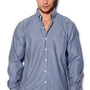 Club Panama Buck Shirt sini-valkoraita