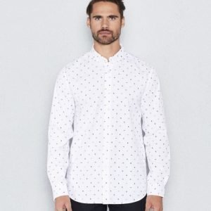 Clubs and Spades Erik Shirt White Printed