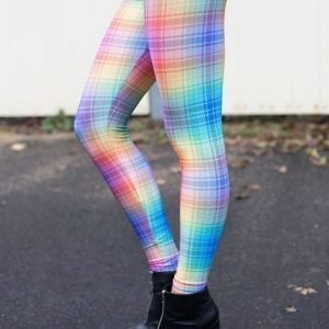 Colorful Checkered Leggings Tights