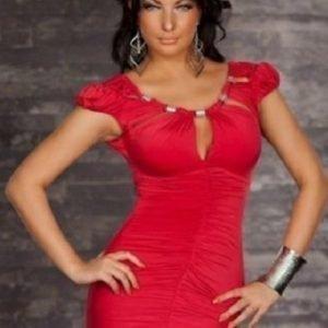 Corie punainen minimekko (Plus Size)