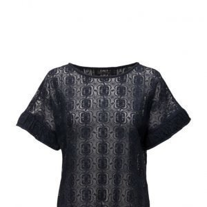 Coster Copenhagen Lace Top W. Sleeve Wrinkels lyhythihainen pusero