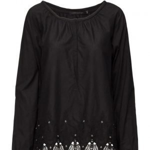 Coster Copenhagen Shirt W. Boarder Embroidery pitkähihainen pusero