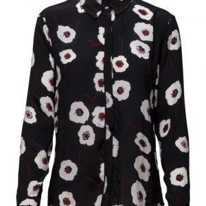 Coster Copenhagen Shirt W. Poppy Print pitkähihainen pusero