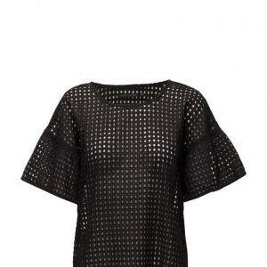 Coster Copenhagen Square Lace Top W. Short Sleeve lyhythihainen pusero