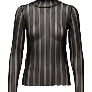 Coster Copenhagen Striped Lace Top poolopaita
