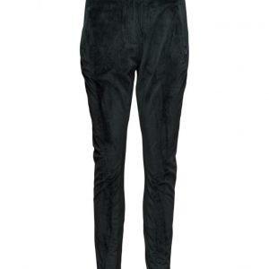 Coster Copenhagen Velvet Pants W. Nylon Rib skinny housut