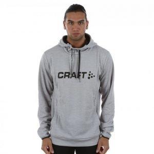 Craft Logo Hood Huppari Harmaa / Musta