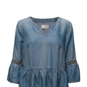 Cream Gry Denim Blouse pitkähihainen pusero