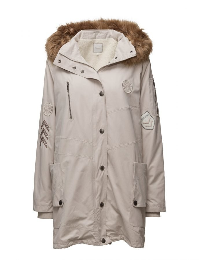 Cream Lily Parka Coat parkatakki
