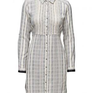 Cream Lucky Stripe Shirtdress mekko