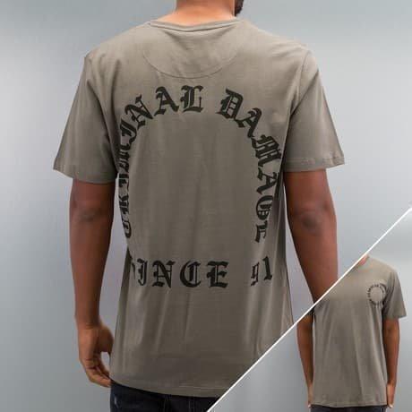 Criminal Damage T-paita Harmaa