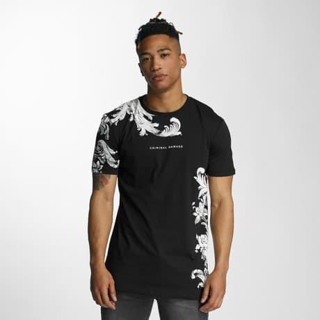 Criminal Damage T-paita Musta