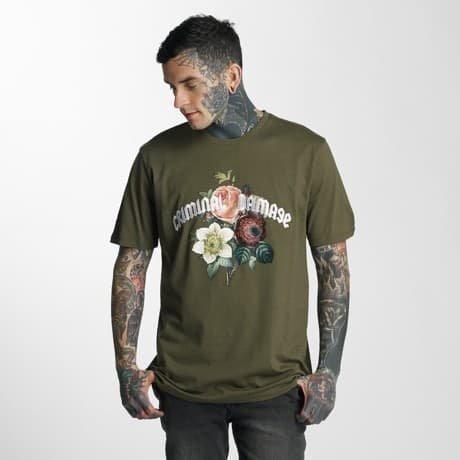 Criminal Damage T-paita Oliivi