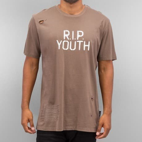 Criminal Damage T-paita Ruskea
