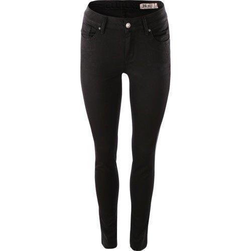 ... Culture Faith Jeannina Mid Fit Jeans Black 623ba209ec52f