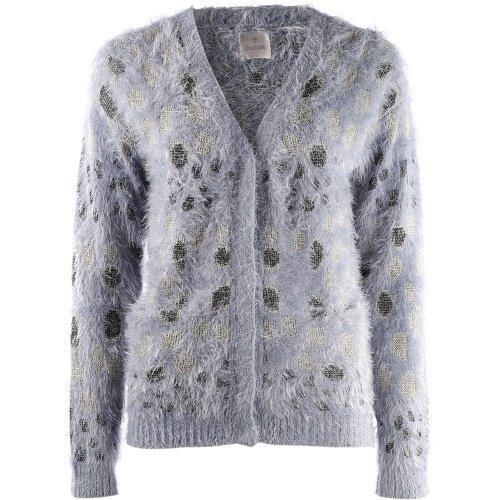Culture Jill Knit Cardigan Blue