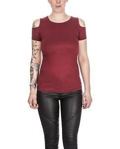 Cutted Shoulder Tee Red