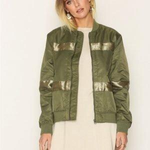 D Brand Oliver Bomber Jacket Takki Green