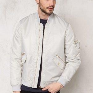 D.Brand Golden Zip Bomber Jacket Grey