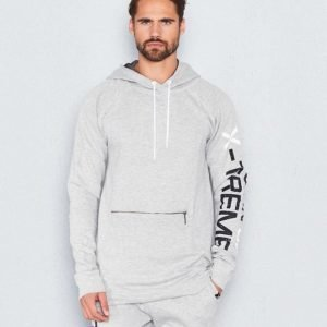 D.O.X Justin Hood Sweater Grey Melange