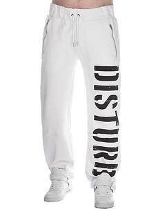 DSTRB Sweat Pants White