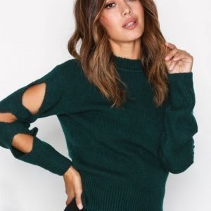 Dagmar Carole Sweater Neulepusero Emerald Green