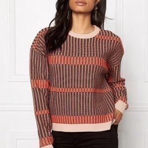 Dagmar Noelle Check Knit Glazed Cherry