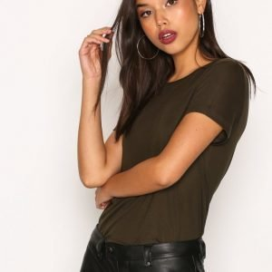 Dagmar Upama Top T-Paita Military Green