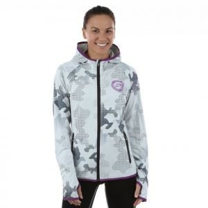 Dcore Pixel Camo Hood Jacket Vetoketjuhuppari Valkoinen