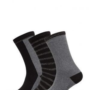 Decoy Ladies Lurex Ankelsock 3-Pack nilkkasukat